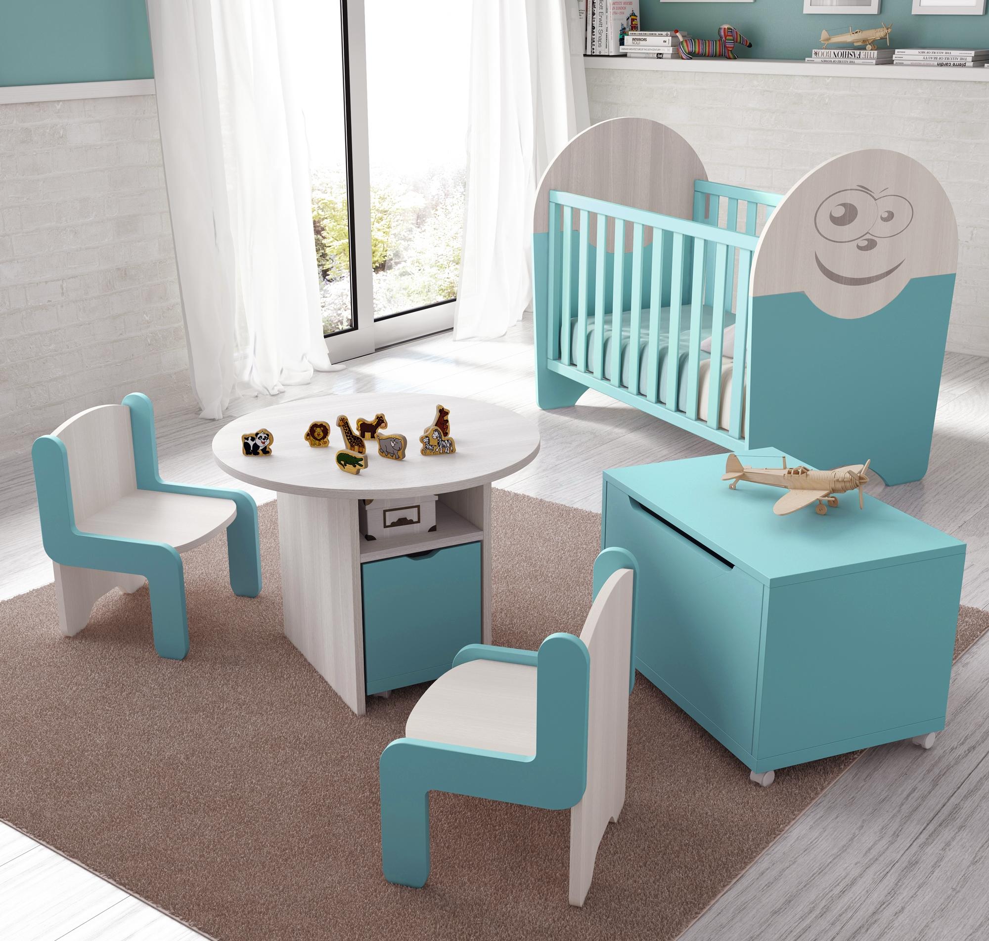 Chambre de bébé plete Small fun et colorée GLICERIO SO NUIT