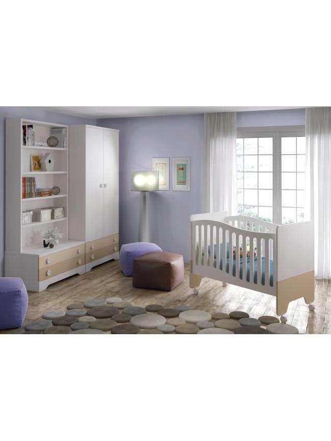 chambre b b gar on compl te gioco blanc et bleu glicerio so nuit. Black Bedroom Furniture Sets. Home Design Ideas