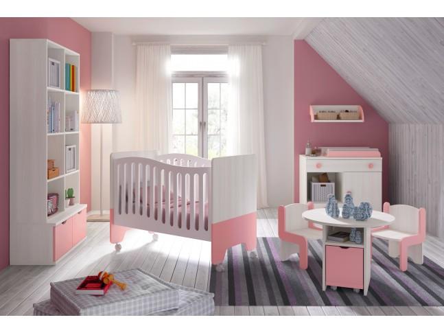 Chambre bébé fille Bicouleur - GLICERIO