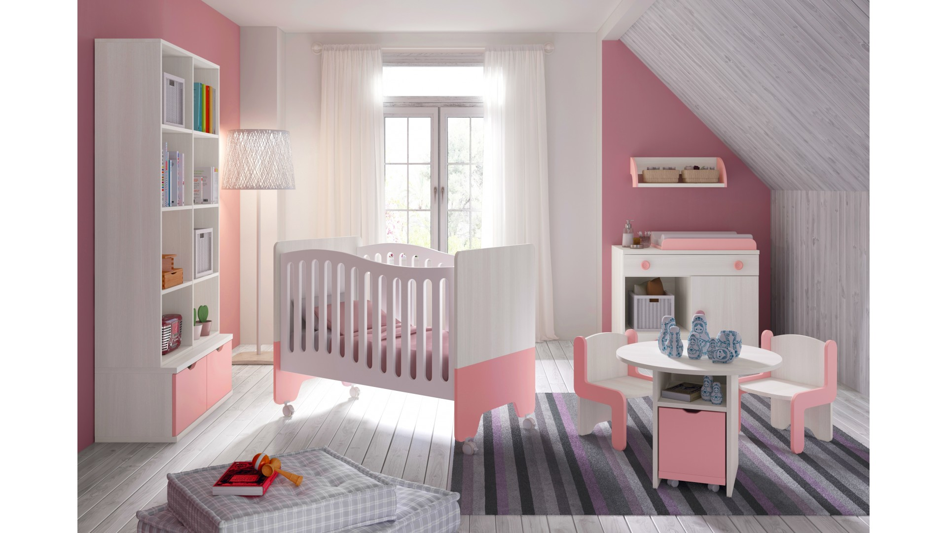 emejing chambre bebe fille blanche photos. Black Bedroom Furniture Sets. Home Design Ideas