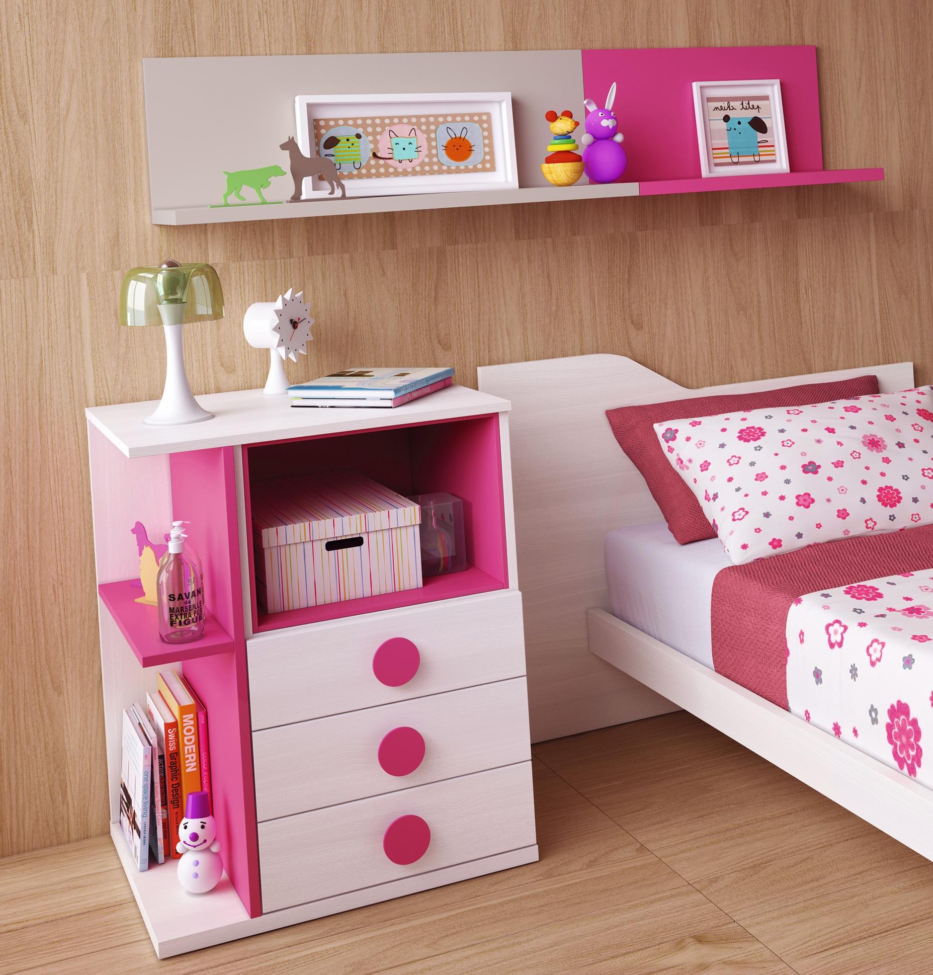 chambre volutive b b star coloris fuchsia glicerio. Black Bedroom Furniture Sets. Home Design Ideas
