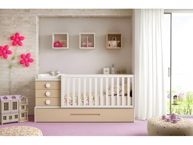 Chambre évolutive avec lit pour bébé LC19 - GLICERIO