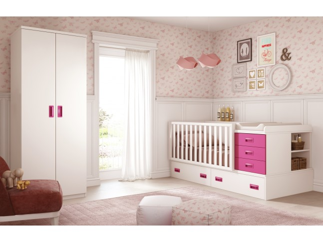 Chambre b b compl te modulable prix so doux so nuit for Chambre complete enfant fille