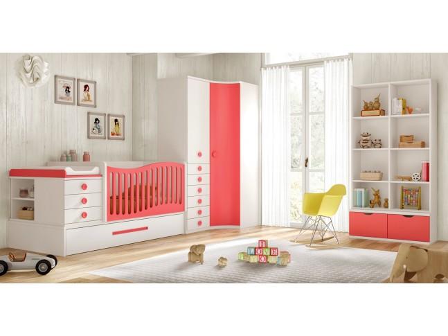Chambre avec berceau bébé évolutif BC30 - GLICERIO