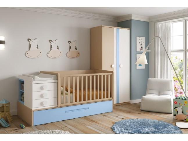 Chambre avec lit évolutif bébé BC30 - GLICERIO