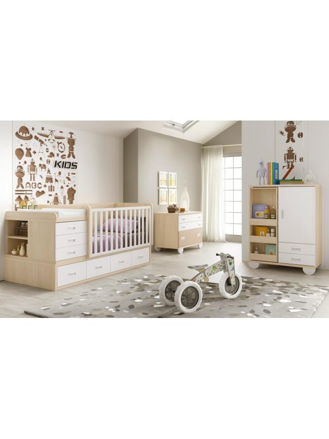 lit b b fille 2 volutif bc30 avec tag re d co glicerio so nuit. Black Bedroom Furniture Sets. Home Design Ideas