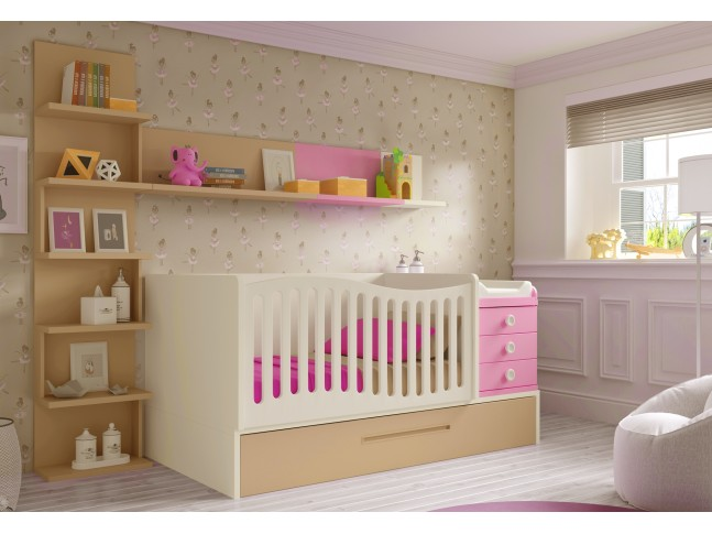 Chambre évolutive avec lit bébé fille BC30 - GLICERIO