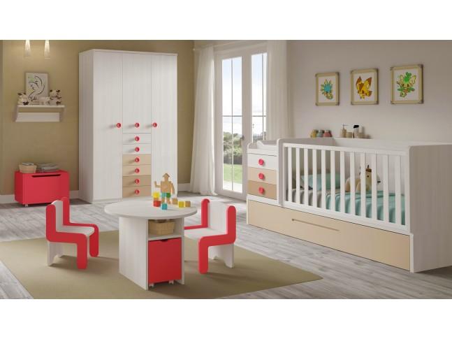 Chambre bebe complete évolutive avec lit BC30 - GLICERIO