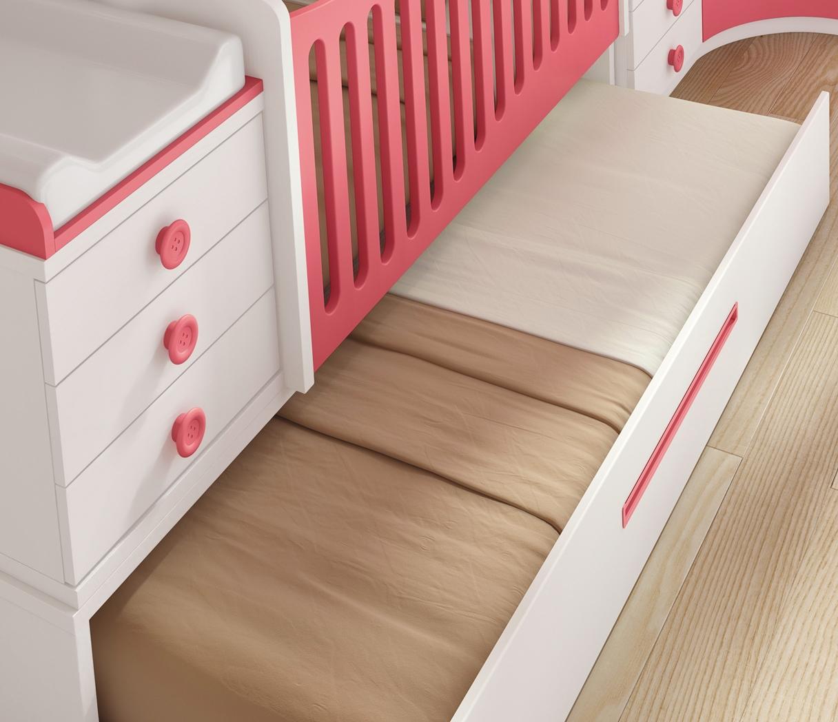 Chambre bébé fille avec un lit jumeaux évolutif - GLICERIO - SO NUIT