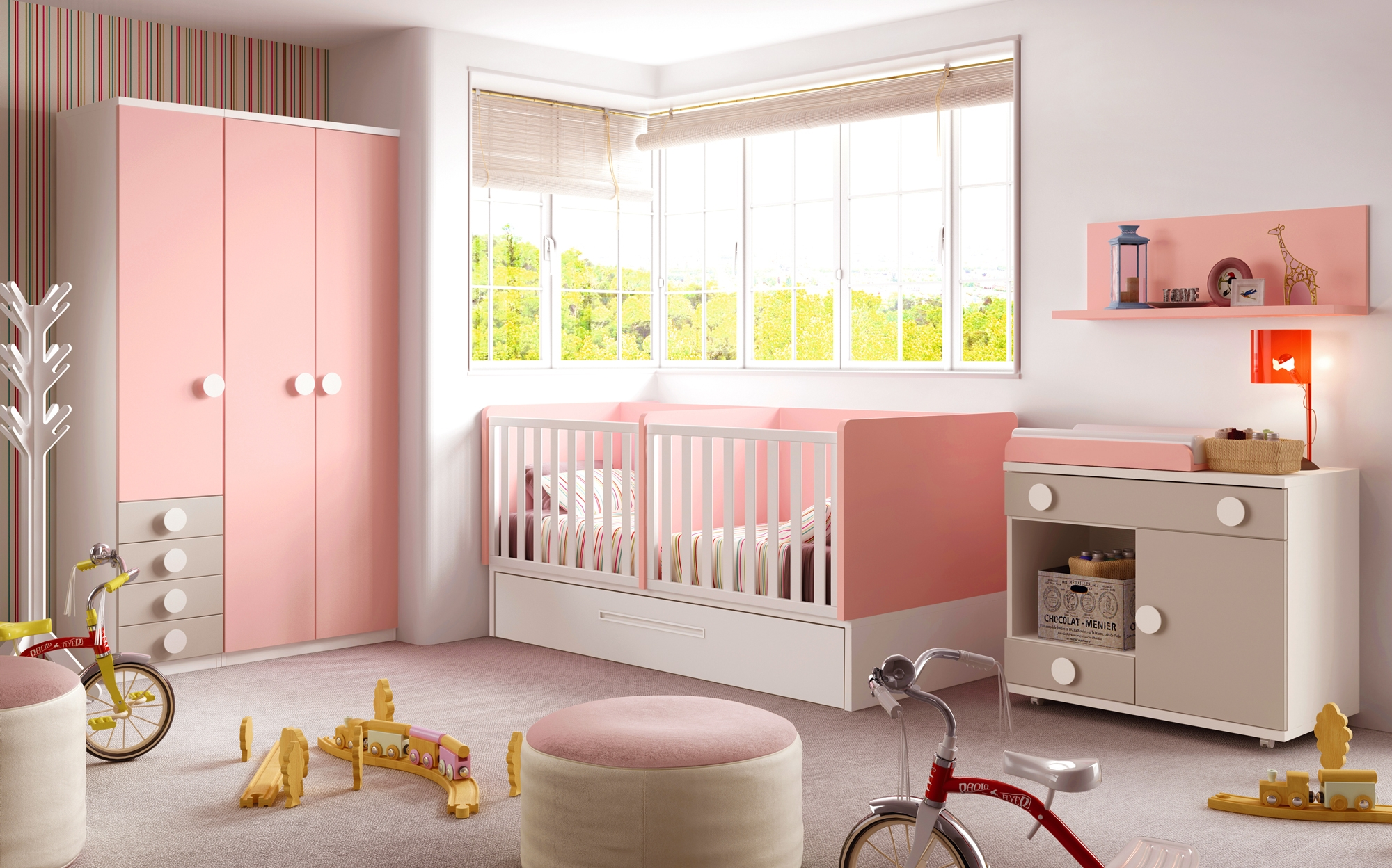 Hello kitty chambre bebe for Meuble chambre bebe fille