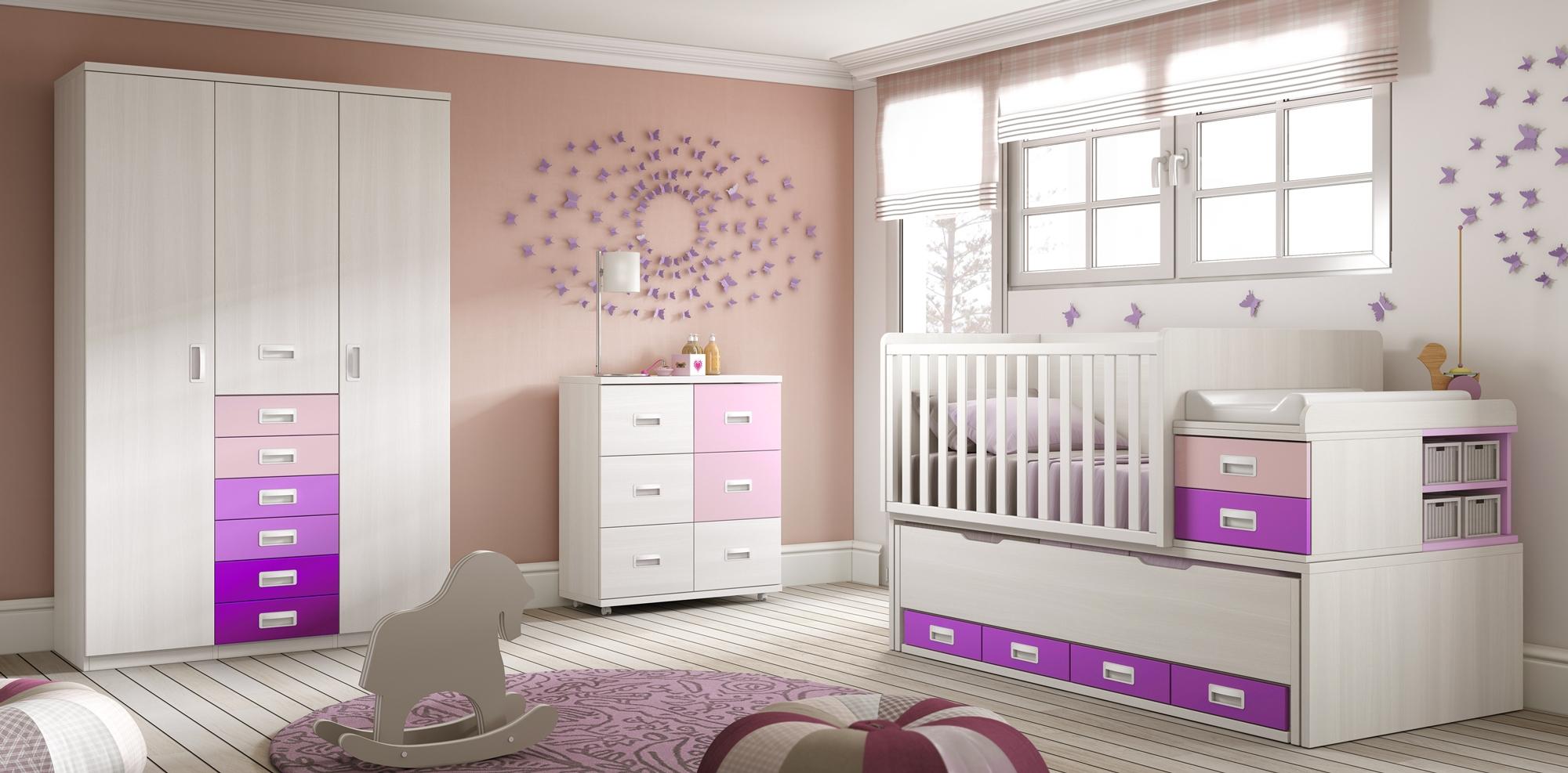 Lit pour b b volutif sur lev bc30 avec armoire glicerio so nuit - Chambre complete de bebe ...