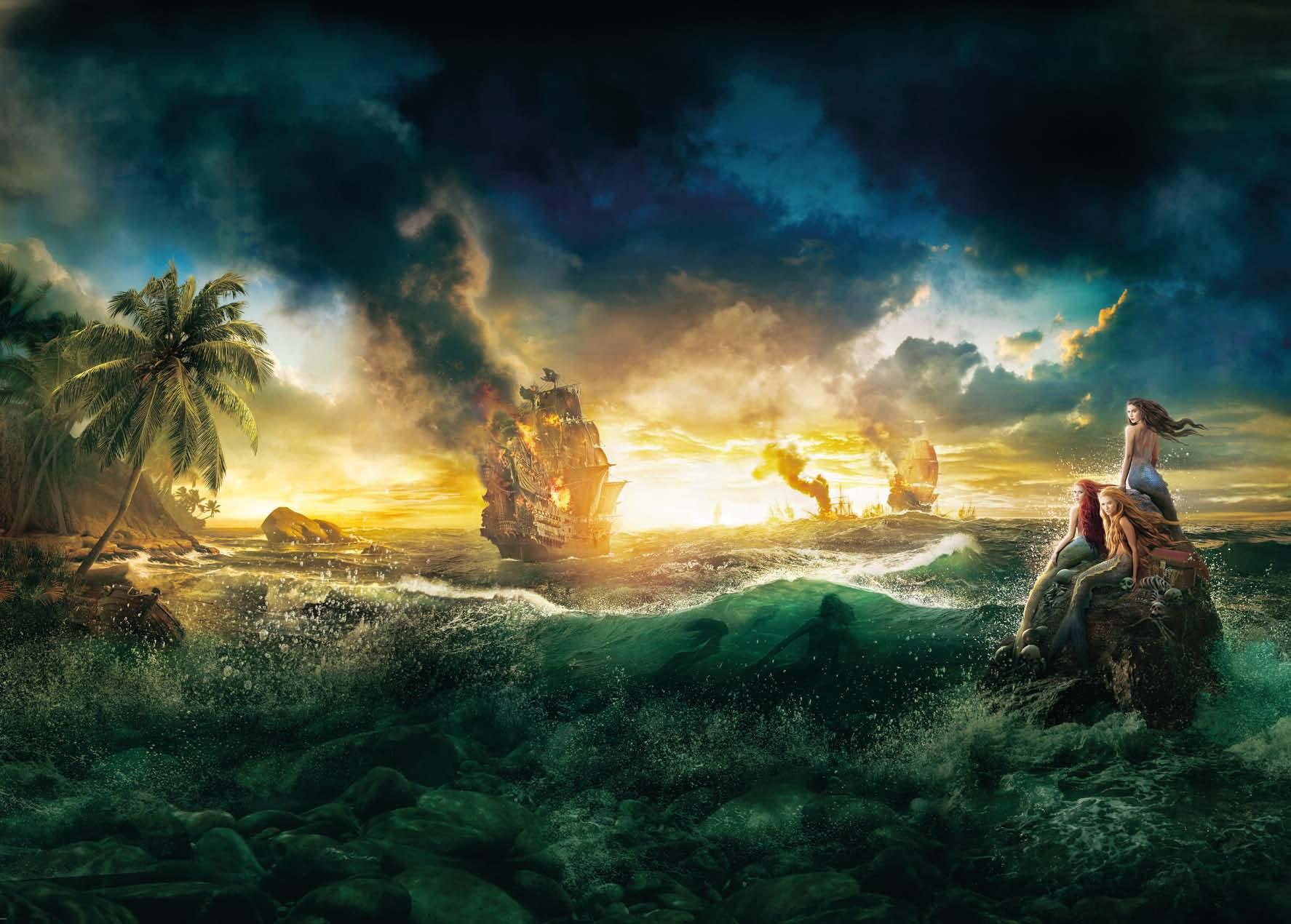Poster mural Pirates des Caraibes - Panoramique Disney - KOMAR
