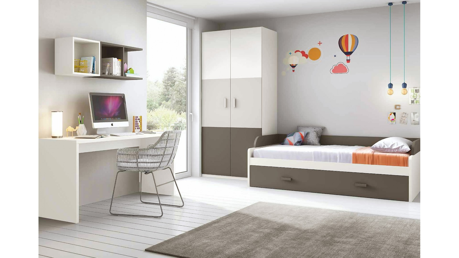 Awesome chambre garcon complete contemporary design for Chambre complete enfant fille