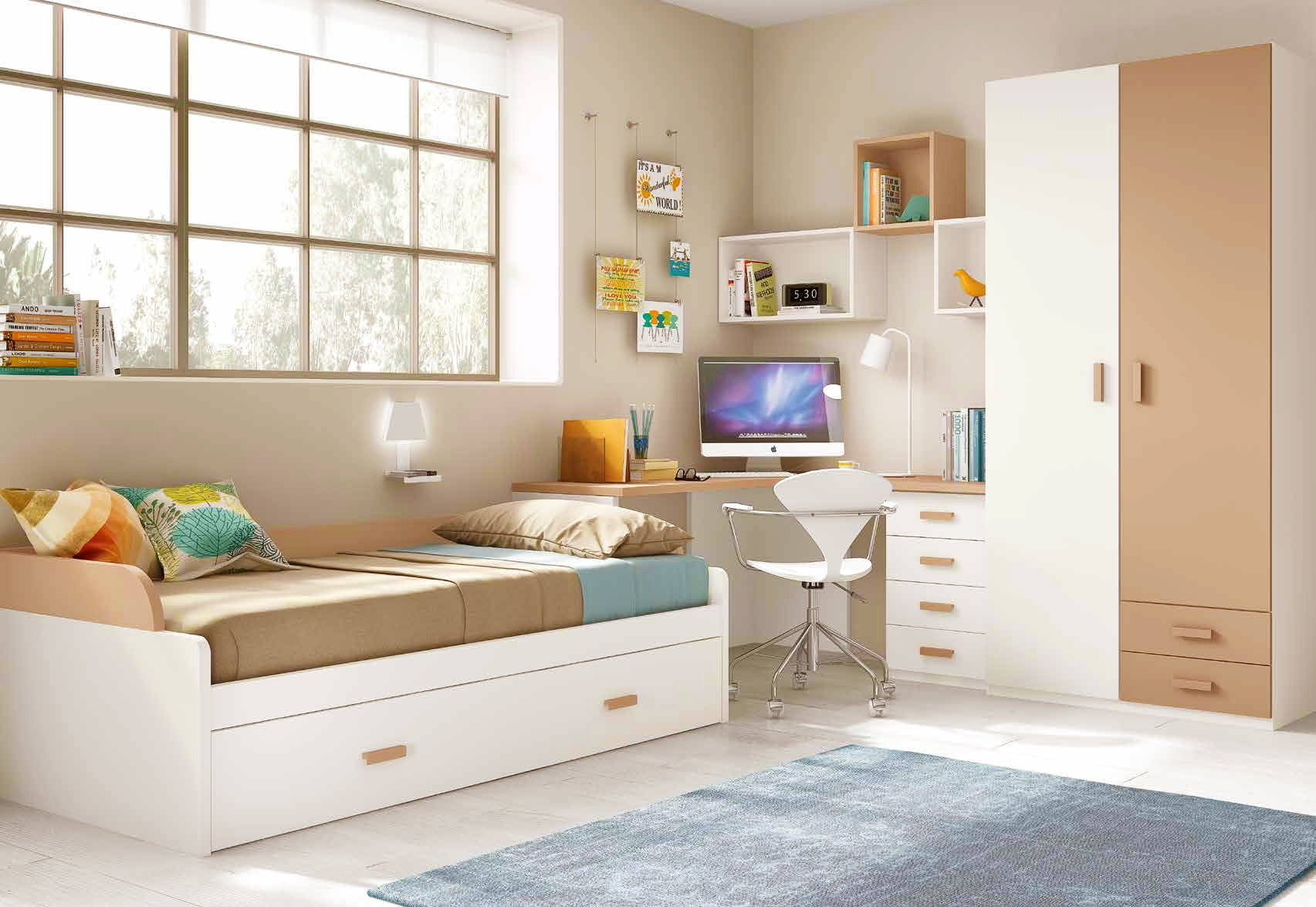 chambre pour enfant cosy avec son lit gigogne glicerio so nuit. Black Bedroom Furniture Sets. Home Design Ideas