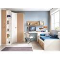 Chambre enfant originale composition L104 avec lit 3 coffres - GLICERIO