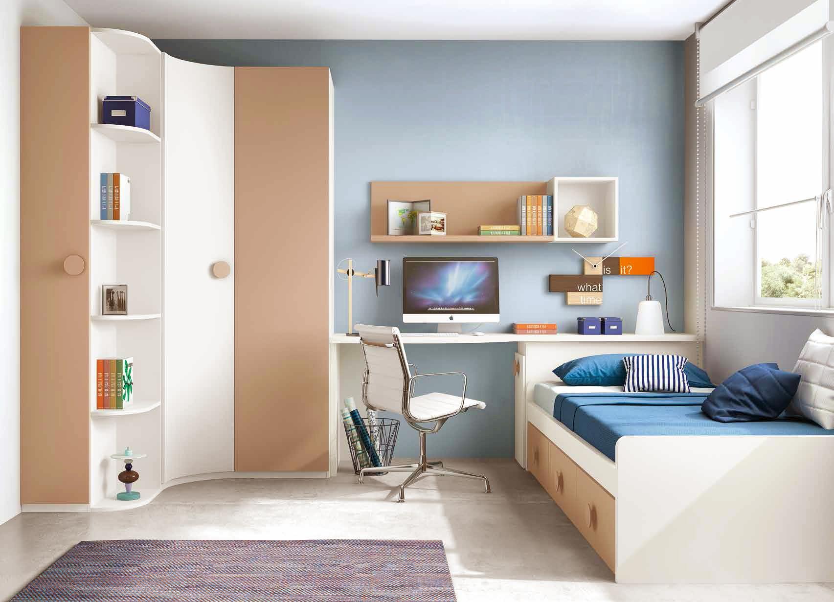 chambre enfant originale avec une armoire d 39 angle. Black Bedroom Furniture Sets. Home Design Ideas