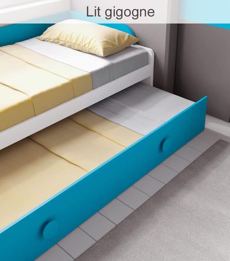 Chambre ado garçon fun et design avec lit gigogne ...