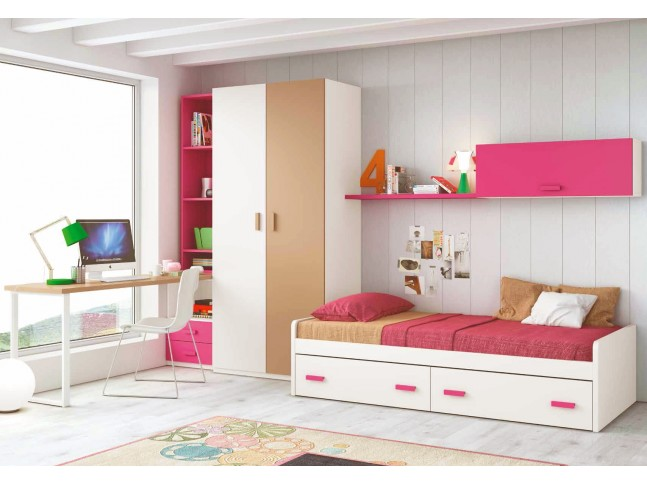 Chambre complete pour ado collection prix fun so nuit for Photo chambre ado fille