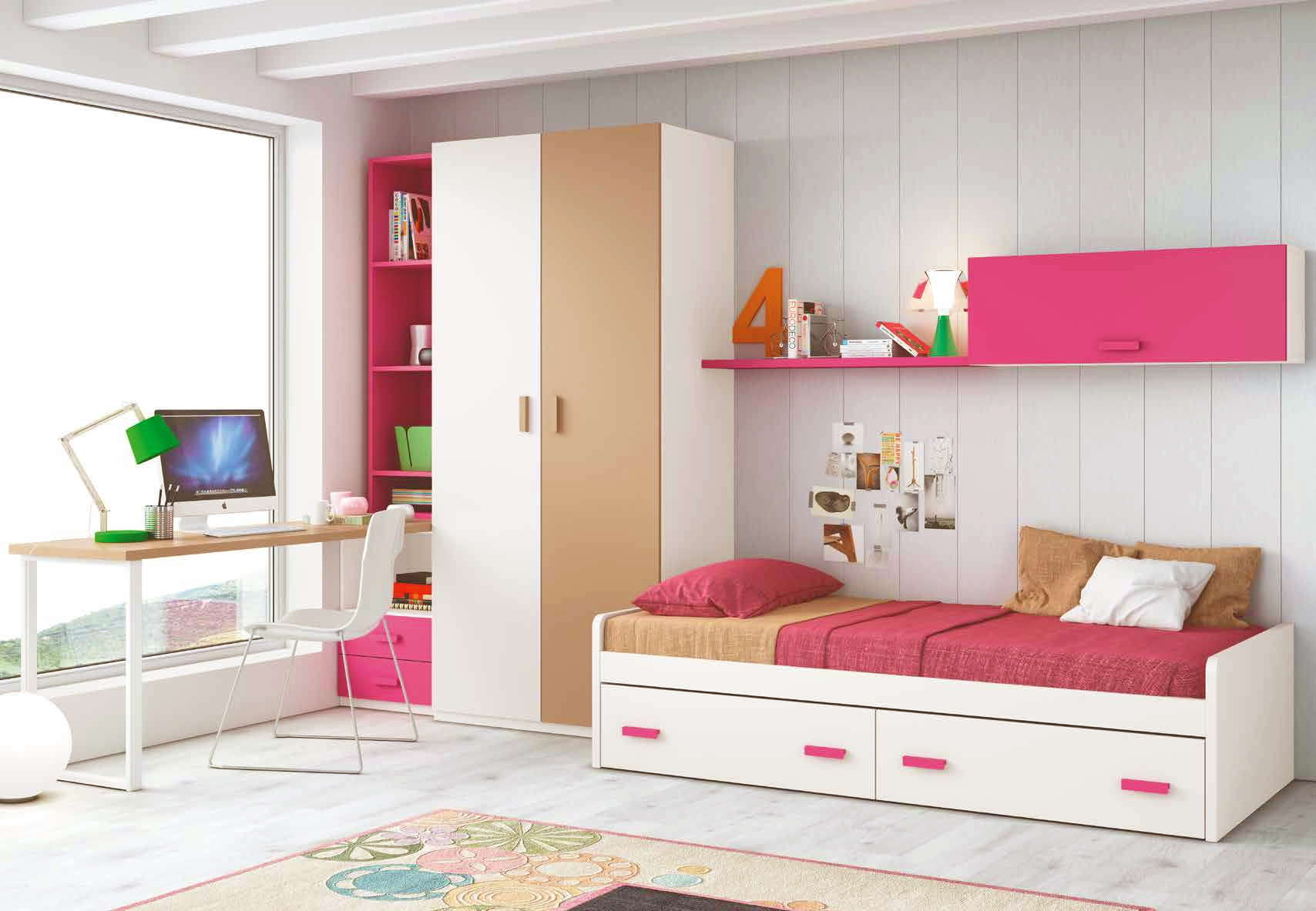 chambre pour ado fille de couleur peps glicerio so nuit. Black Bedroom Furniture Sets. Home Design Ideas