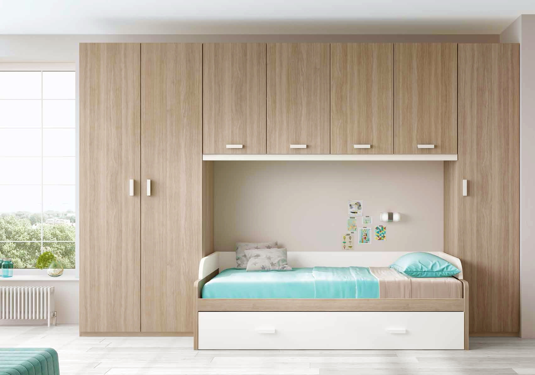 chambre pour ado ultra compacte avec lit gigogne glicerio so nuit. Black Bedroom Furniture Sets. Home Design Ideas