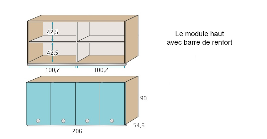 Chambre pour ado ultra compacte avec lit gigogne for Luminaire chambre enfant avec matelas paris 14