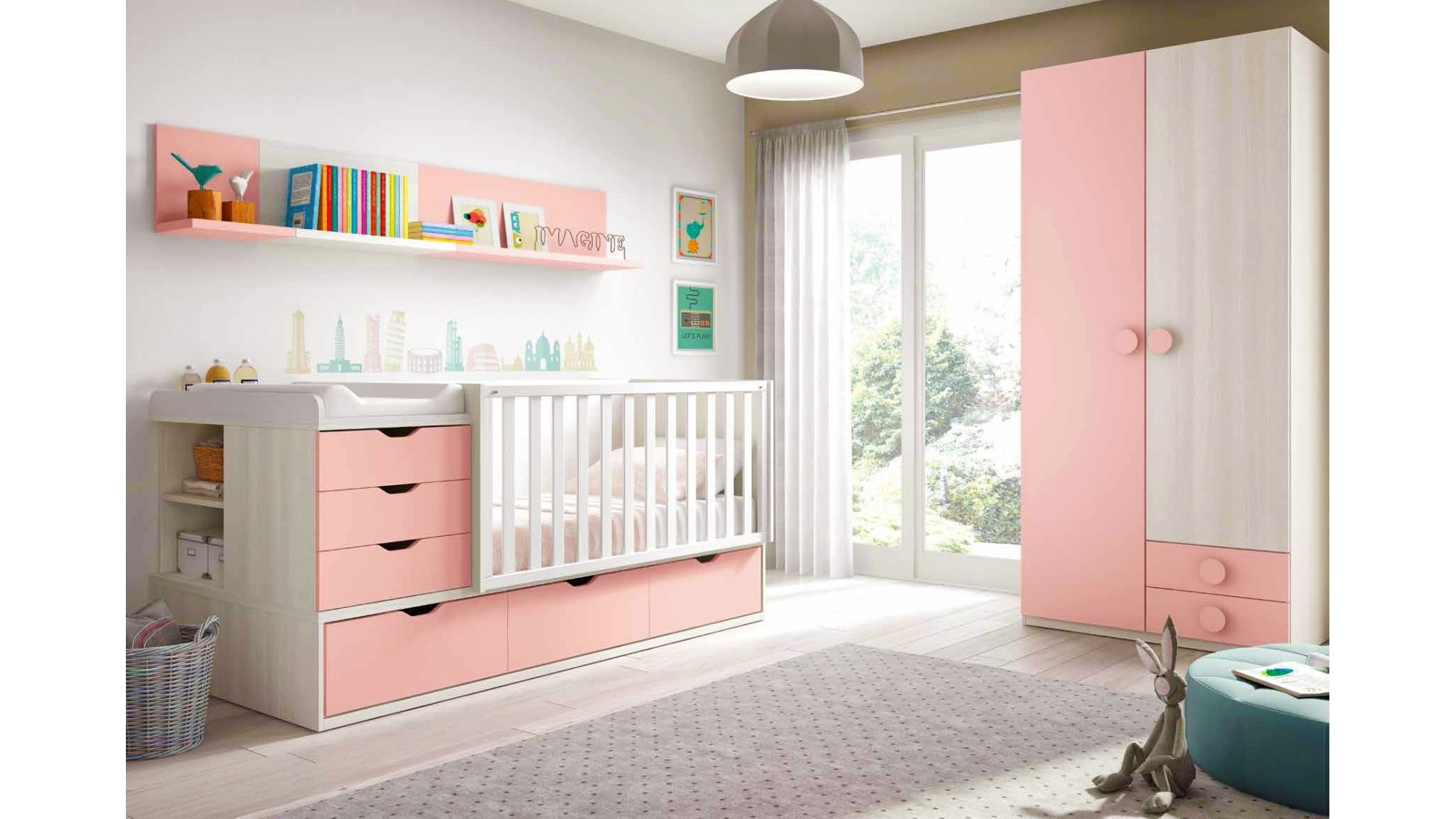 best chambre de bebe fille photo contemporary. Black Bedroom Furniture Sets. Home Design Ideas