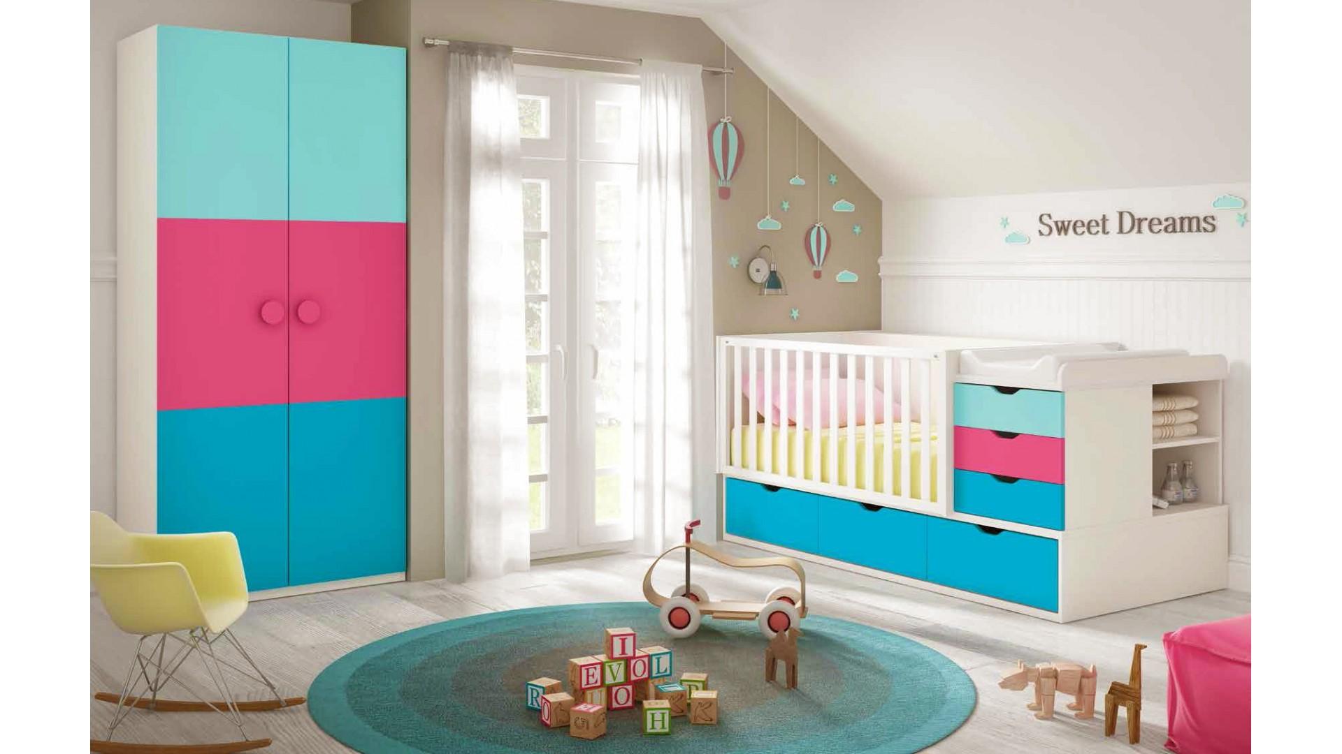 chambre de b b complete avec lit volutif glicerio so. Black Bedroom Furniture Sets. Home Design Ideas