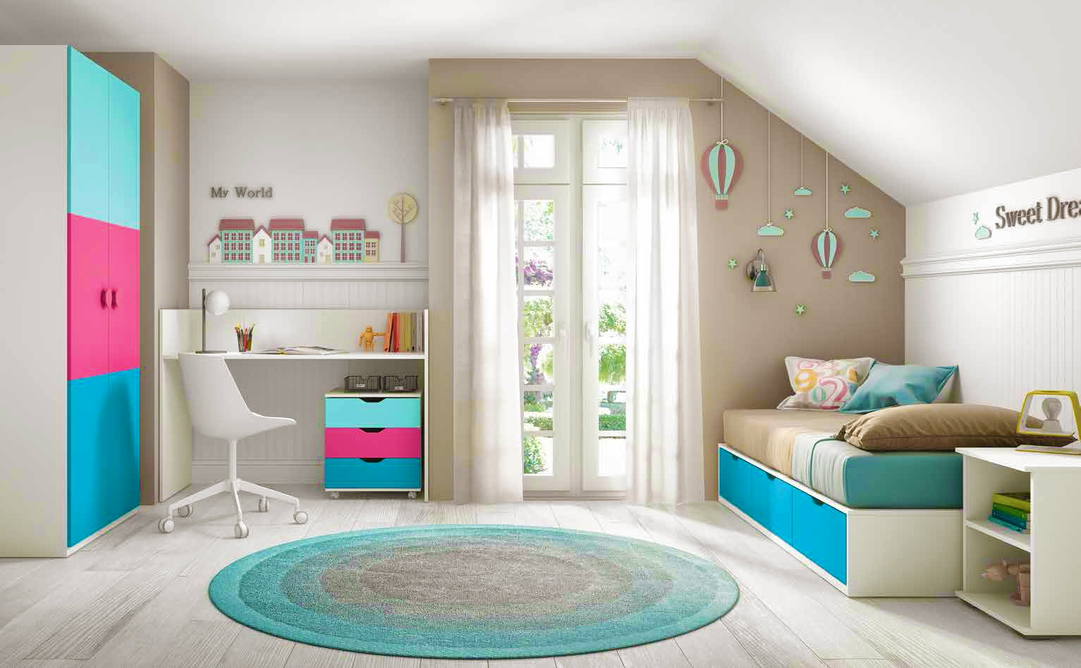 chambre de b b fille compl te avec lit volutif. Black Bedroom Furniture Sets. Home Design Ideas