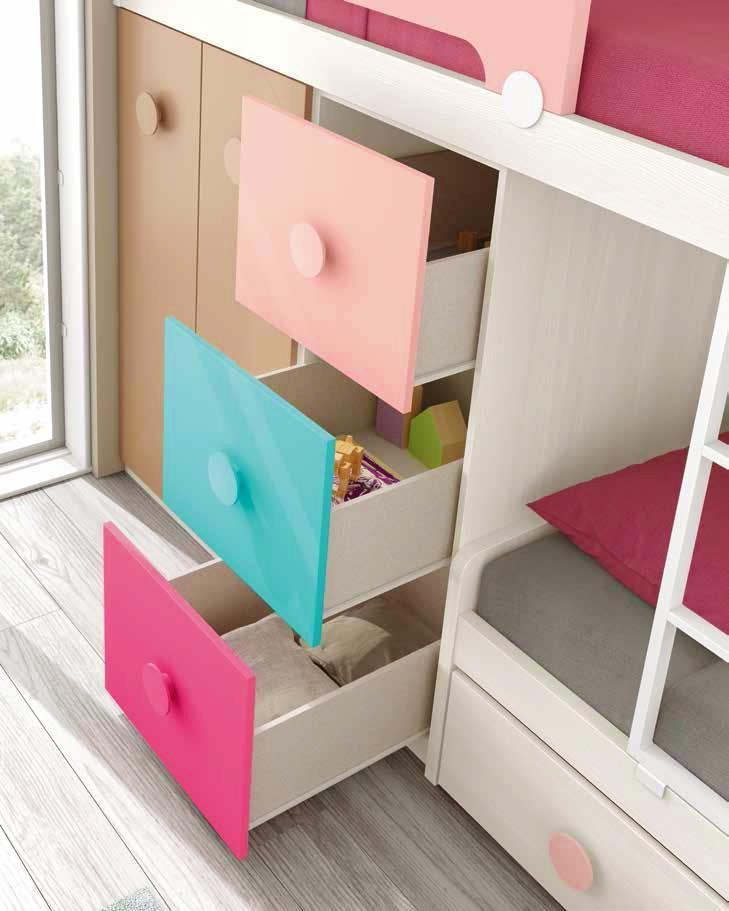 lit superpos fille fun et tr s color e glicerio so nuit. Black Bedroom Furniture Sets. Home Design Ideas