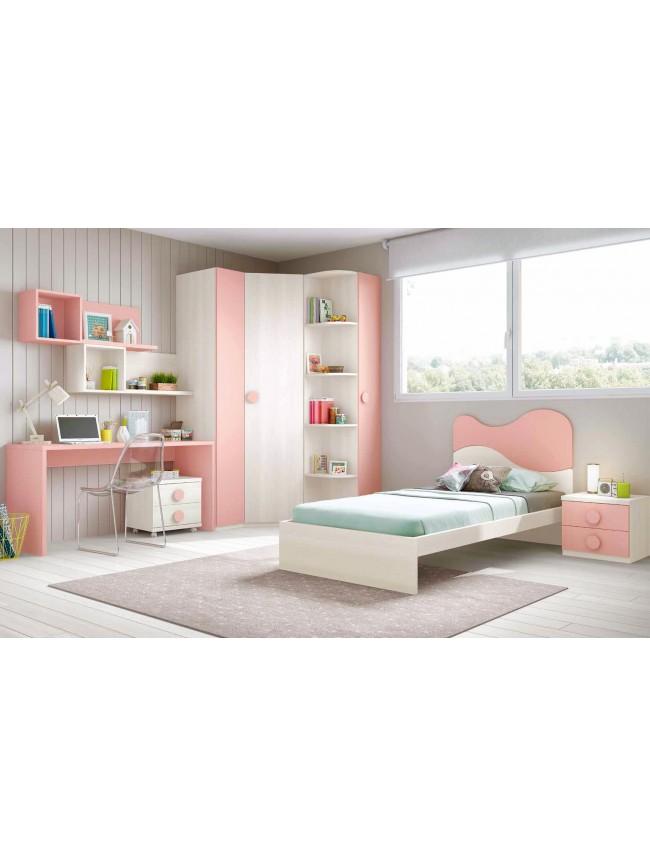 chambre simple fille solutions pour la d coration. Black Bedroom Furniture Sets. Home Design Ideas