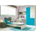 Chambre enfant composition L301 avec lit 1 personne - GLICERIO