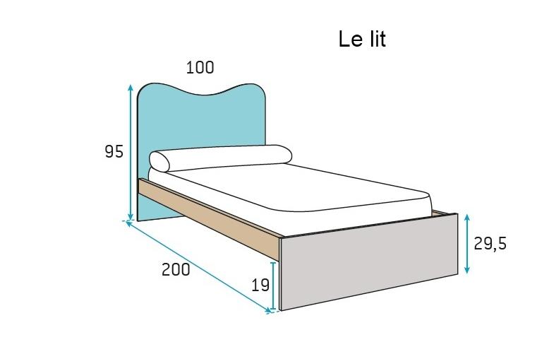 chambre enfant fun et pur e avec lit 1 personne glicerio so nuit. Black Bedroom Furniture Sets. Home Design Ideas