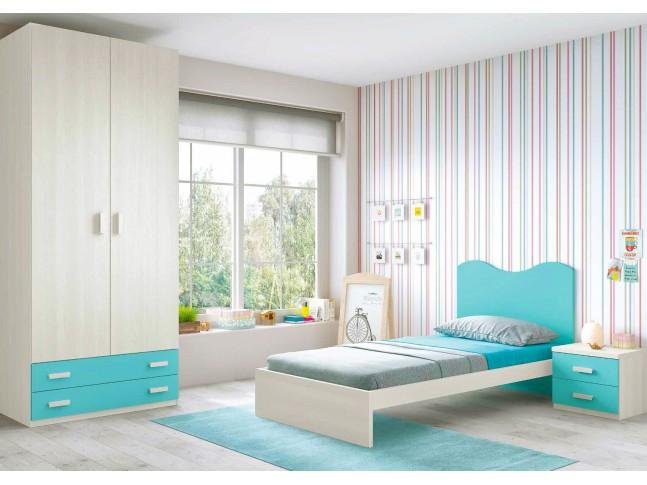 Chambre enfant fun L302 avec lit 1 personne - GLICERIO