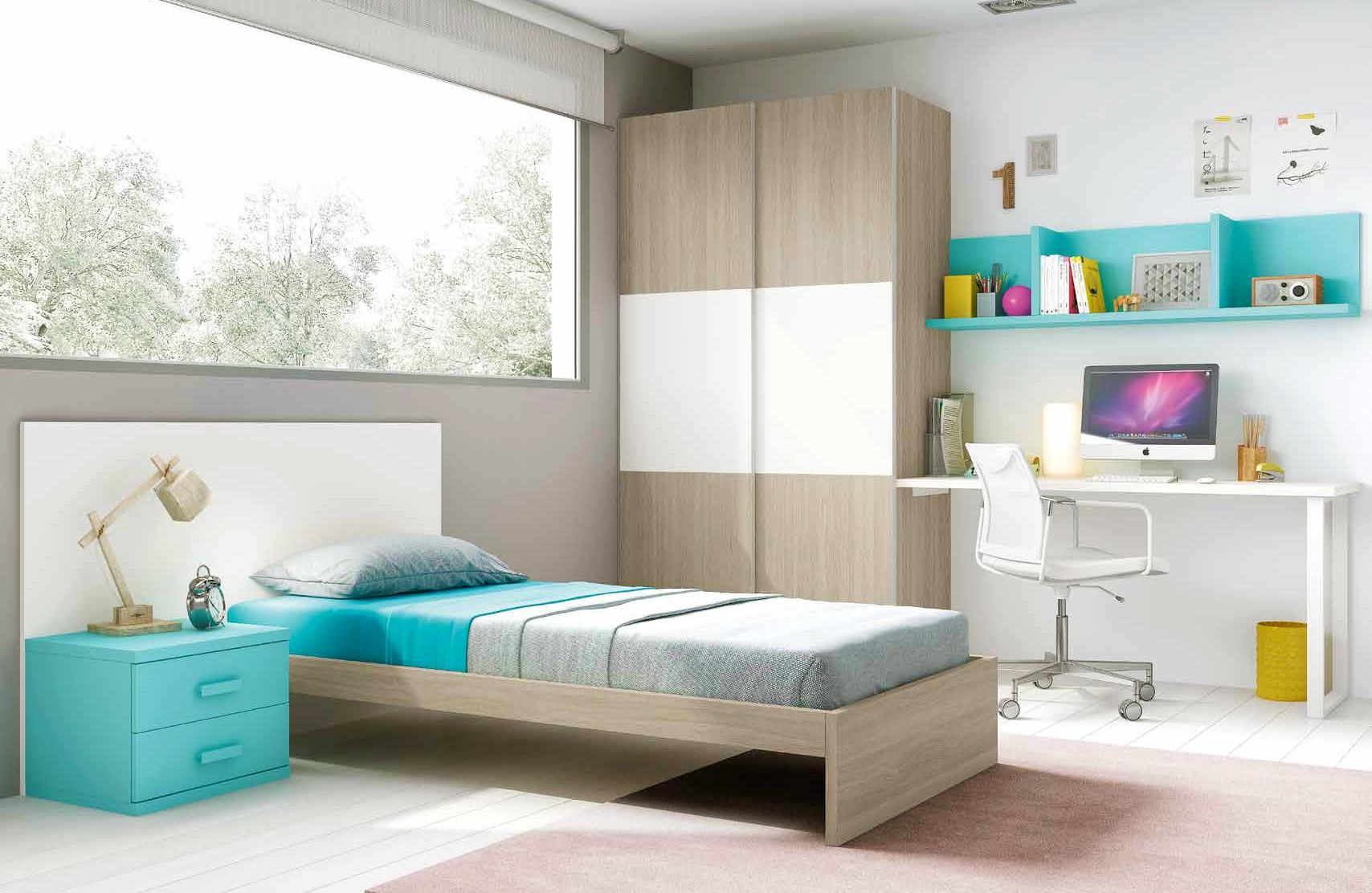 Chambre enfant composition L304 avec lit 1 personne - GLICERIO