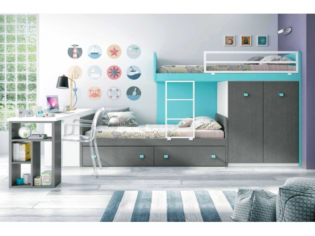lit superpos fille design et personnalisable glicerio. Black Bedroom Furniture Sets. Home Design Ideas