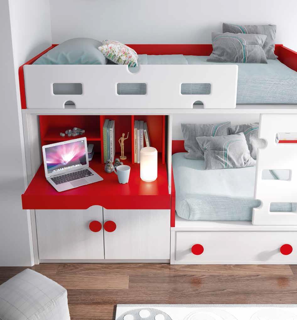 lit superpos blanc pratique et personnalisable glicerio. Black Bedroom Furniture Sets. Home Design Ideas