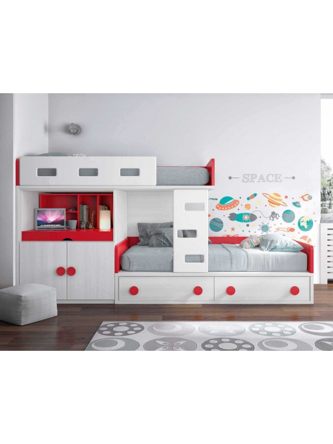 lits superpos s avec lit gigogne fun et moderne glicerio so nuit. Black Bedroom Furniture Sets. Home Design Ideas