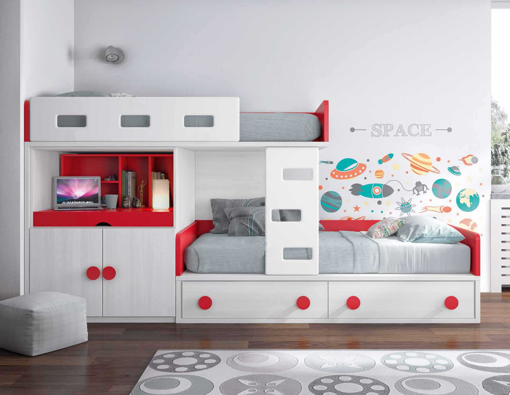 lit superpos blanc pratique et personnalisable glicerio so nuit. Black Bedroom Furniture Sets. Home Design Ideas