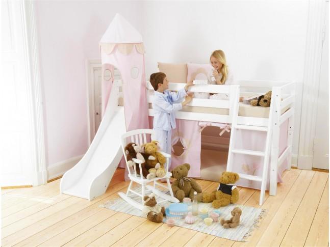 Lit sureleve enfant avec toboggan PERSONNALISABLE Conte de fée 70x160 cm- HOPPEKIDS