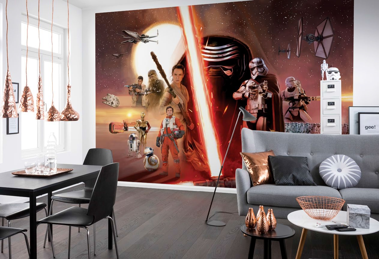 poster xxl star wars ep7 panoramique komar so nuit. Black Bedroom Furniture Sets. Home Design Ideas