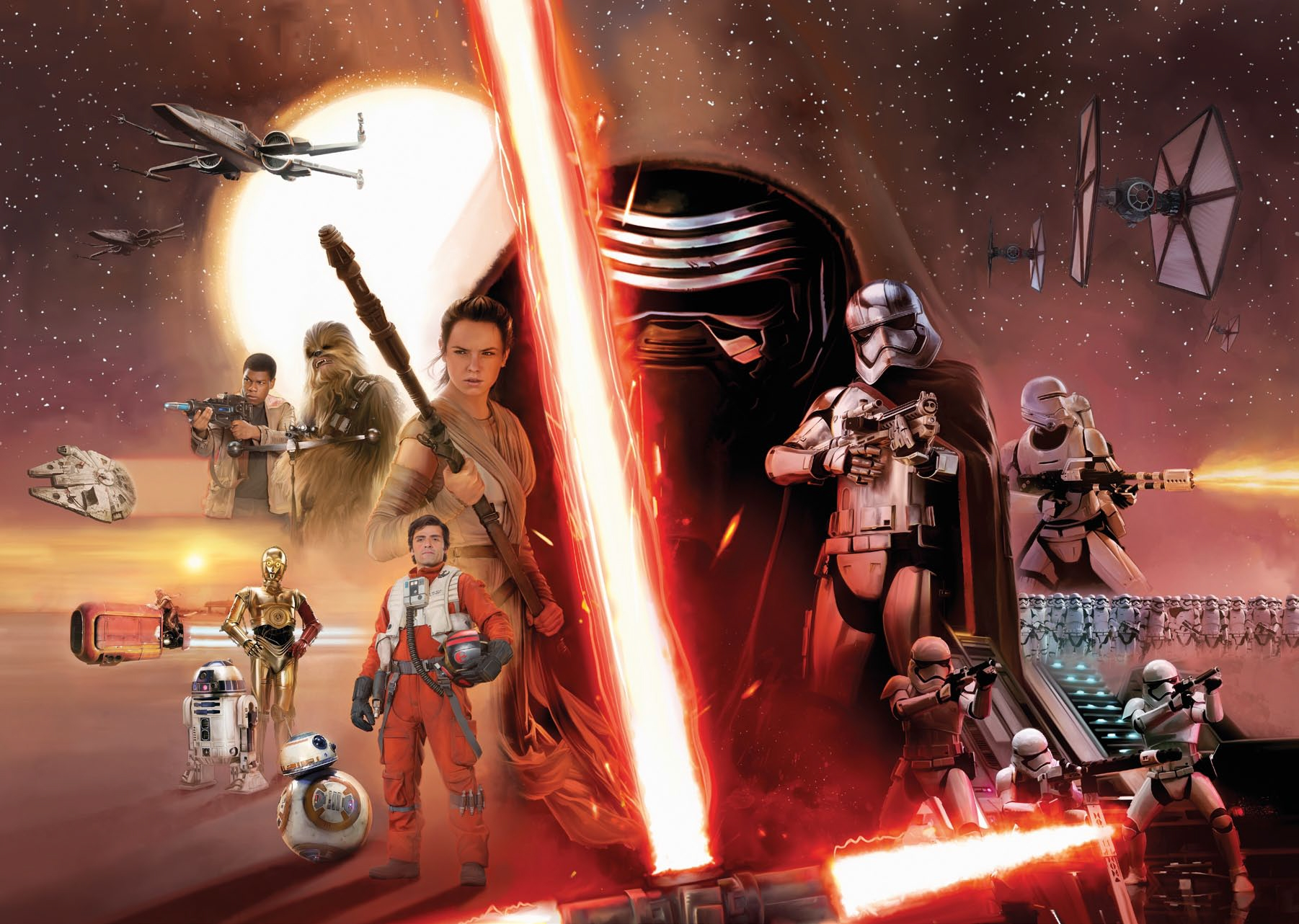 Poster Xxl Star Wars Ep7 Panoramique Komar So Nuit