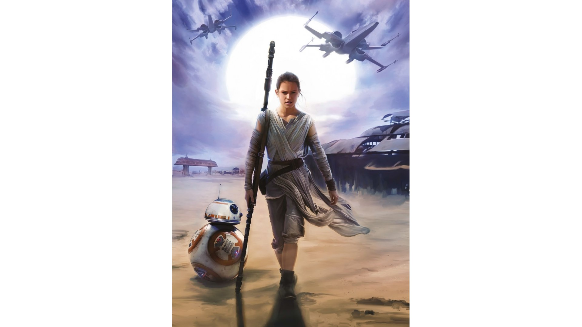Poster XXL Star Wars Rey - Panoramique - KOMAR