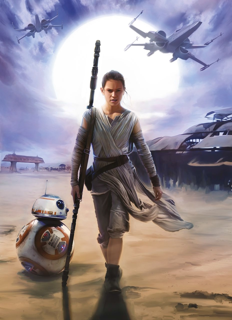 Poster XXL Star Wars Rey - Panoramique - KOMAR