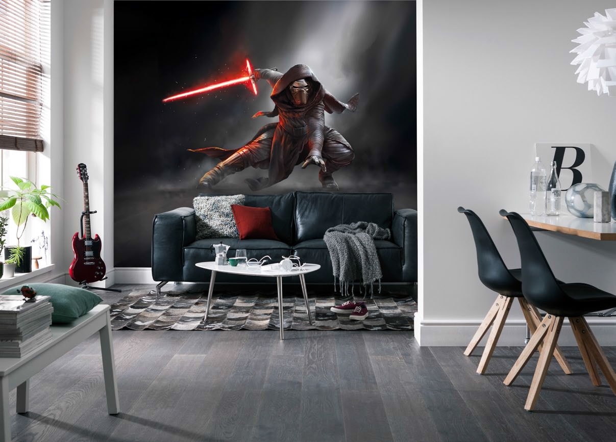 finest poster xxl star wars kylo ren panoramique komar with poster geant a tapisser. Black Bedroom Furniture Sets. Home Design Ideas