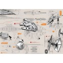 Poster XXL Star Wars Blueprints - Panoramique - KOMAR