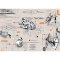 Poster XXL Star Wars Blueprints - Panoramique - KOMAR