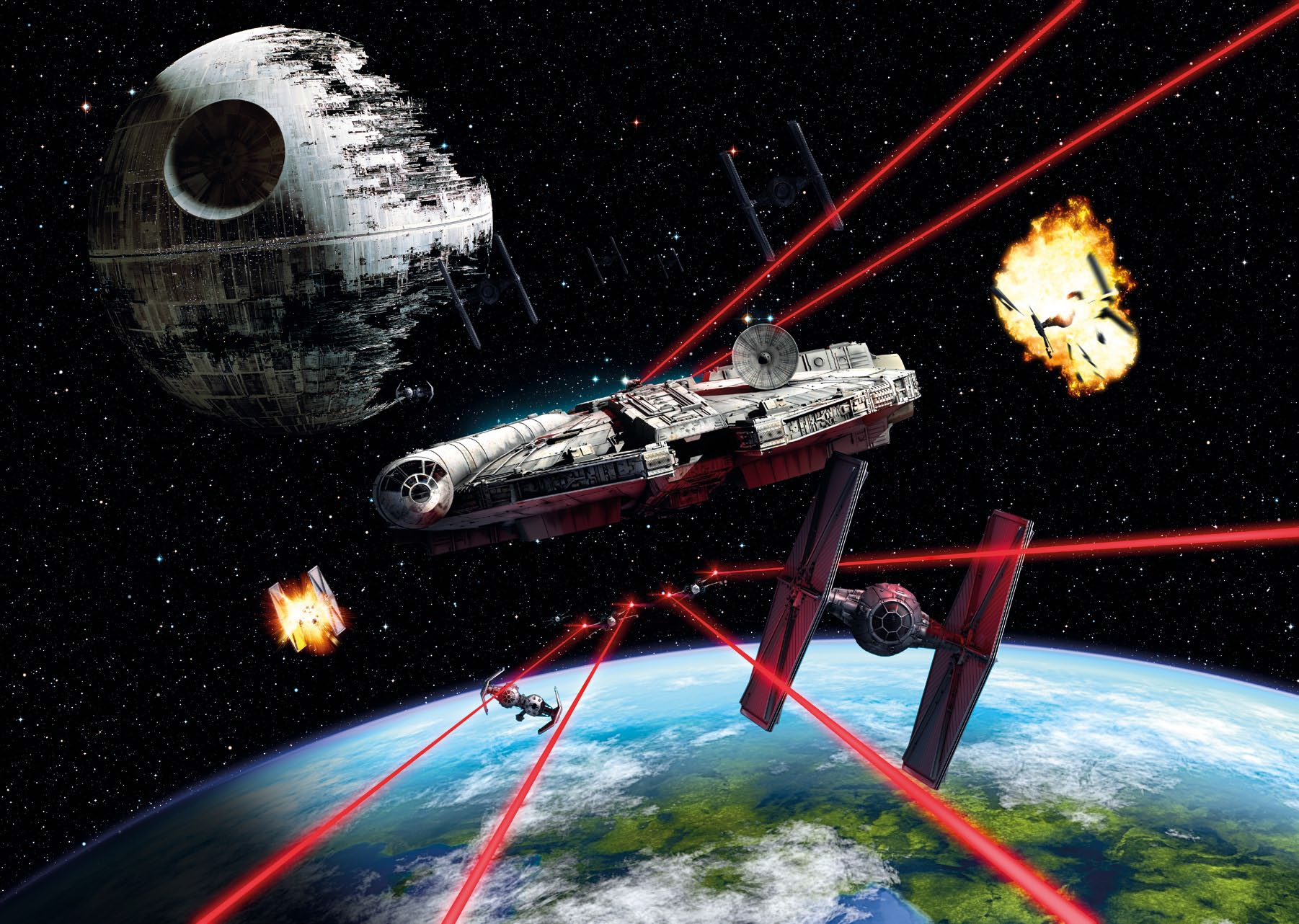 Poster XXL Star Wars Millennium Falcon - Panoramique - KOMAR