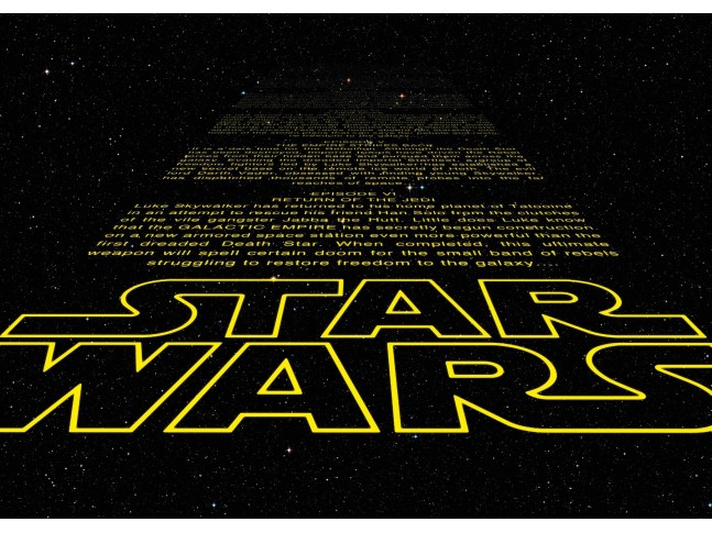 Poster XXL Star Wars générique Intro - Panoramique - KOMAR