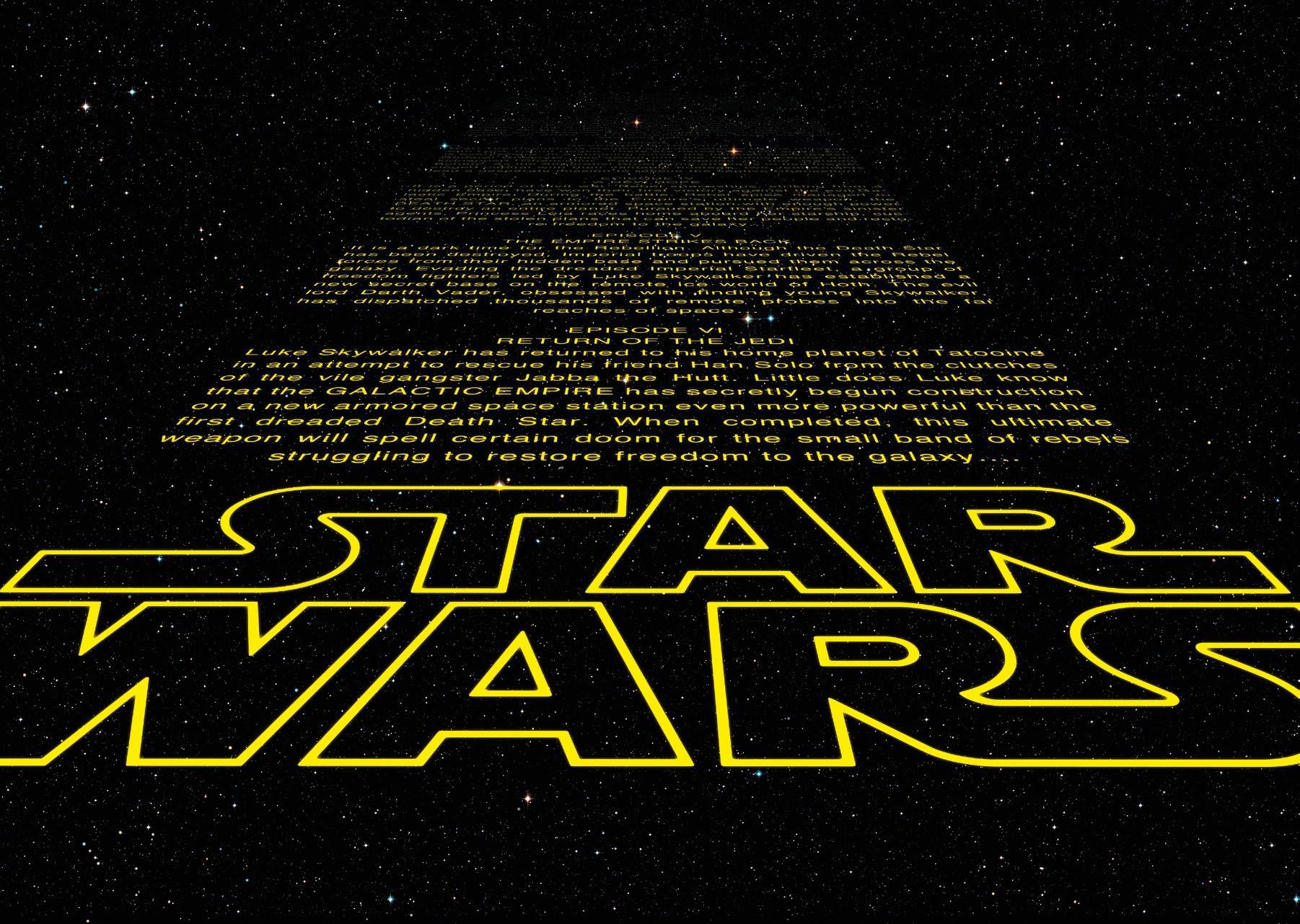 Poster XXL Star Wars générique Intro - Panoramique - KOMAR