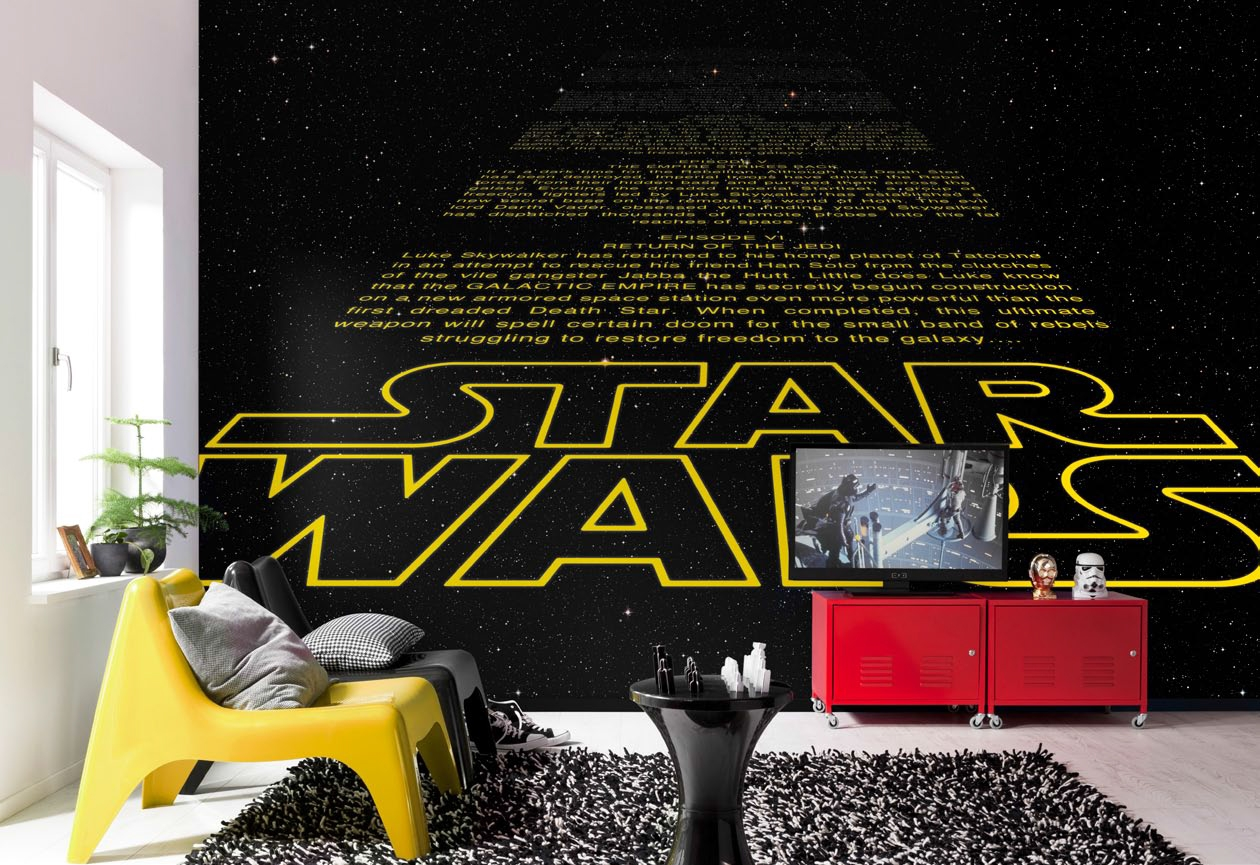 poster xxl star wars g n rique intro panoramique komar so nuit. Black Bedroom Furniture Sets. Home Design Ideas